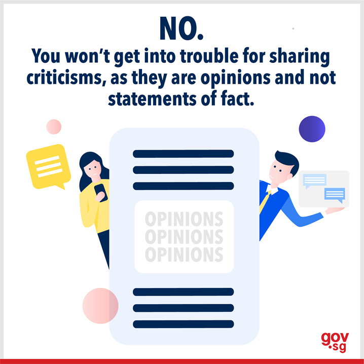 You won't get into trouble for sharing criticisms