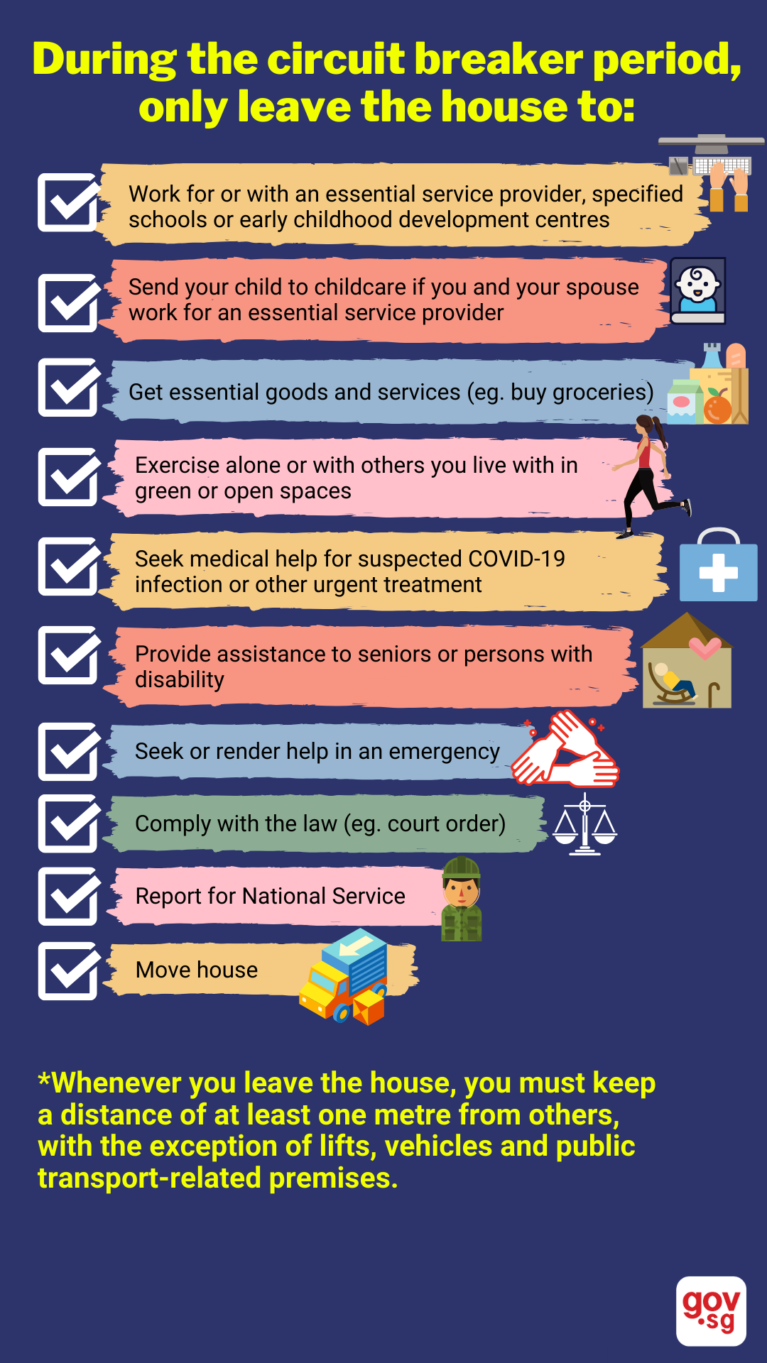 Gov Sg What You Can And Cannot Do During The Circuit Breaker Period