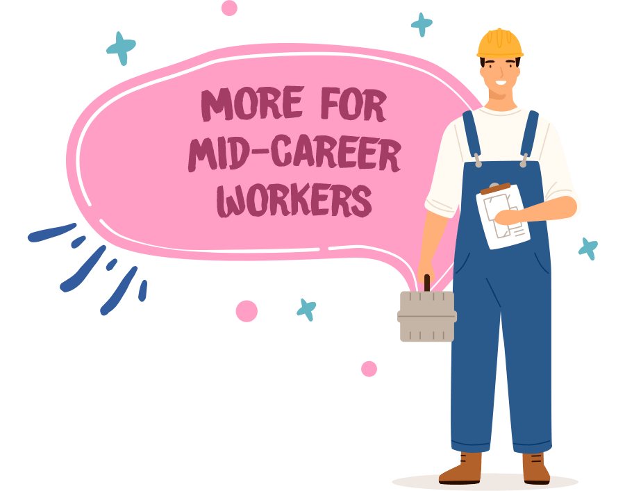 More for mid-career workers